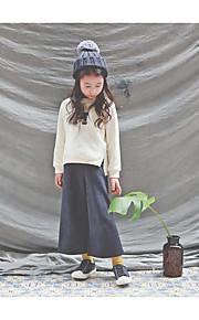 Mädchen Kleidungs Set-Lässig/Alltäglich einfarbig Baumwolle Winter / Herbst Beige