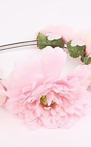 Women's Fabric Headpiece-Wedding / Special Occasion Headbands 1 Piece Pink