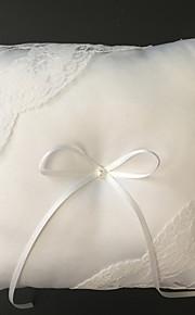 White 1 Ribbons / Faux Pearl Satin / Lace