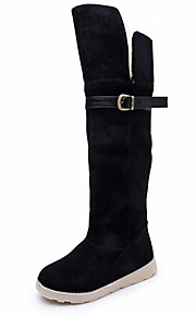 Women's Boots Fall / Winter Combat Boots Leatherette Dress Flat Heel Others Black / Brown / Beige Others