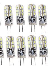 1.5 G4 LED à Double Broches T 24 SMD 3014 75 lm Blanc Chaud / Blanc Froid Décorative DC 12 V 10 pièces