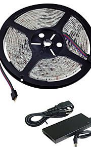 5m IP65 vanntett 300led 5050smd ledet stripe fleksibel string ribbon ledet tape (DC12V)