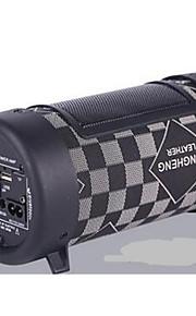 4 tommer bil bas kanon runde træ bil højttaler 12v / 220v tung bas bil audio-forstærker