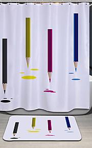 Современный Полиэфир 180*180cm ( L x W )  -  Высокое качество Шторка для ванной