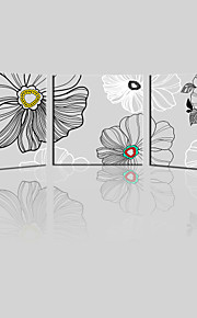 JAMMORY Canvas Set Landscape ,Three Panels Gallery Wrapped, Ready To Hang Vertical Print No Frame Flowers Simple Lines