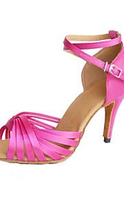 Sapatos de Dança(Preto / Azul / Marrom / Amarelo / Verde / Rosa / Roxo / Vermelho / Branco / Fúcsia) -Feminino-Personalizável-Salsa