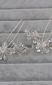Women's Rhinestone Headpiece-Wedding / Special Occasion / Casual Hair Pin 1 Piece Clear