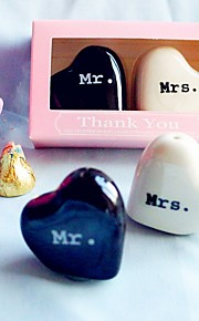 Recipient Gifts Bride and Groom Salt and Pepper Shakers Wedding Favors