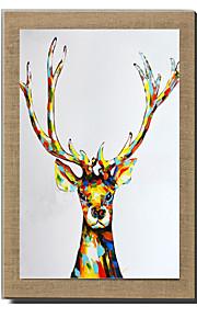 손으로 그린 추상적인 / 경치 / 정물 / 동물 / Fantasy 유화,우아한 / 유럽 스타일 1판넬 캔버스 항으로 그린 유화 For 홈 장식