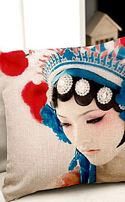 1 pcs Coton/Lin Taie d'oreiller / Oreiller de corps / Canapé Coussin,Nouveauté / Imprimés PhotosModerne/Contemporain /