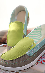 Women's Loafers & Slip-Ons Fall Comfort Canvas Casual Flat Heel Others Blue / Green / Red Others