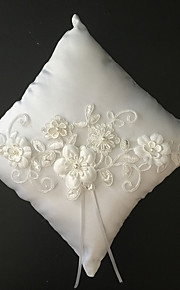 White 1 Ribbons / Faux Pearl / Embroidery Satin / Lace