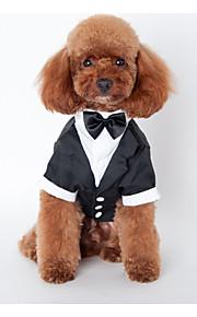 Собаки Инвентарь Черный Одежда для собак Зима / Весна/осень Britsh Свадьба /