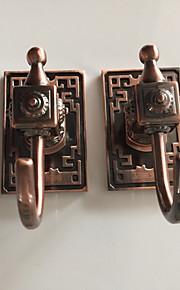 selvklebende kappe krok med 3m tilbake klistremerke rød-bronse kroker 6pcs / set yg6pc-3