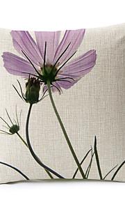 1 pcs Coton/Lin Taie d'oreiller / Oreiller de corps / Canapé Coussin,Fleur Moderne/Contemporain