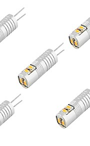 2.5 G4 LED à Double Broches T 6 SMD 3014 100 lm Blanc Chaud / Blanc Froid Décorative DC 12 V 5 pièces