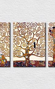 בד הגדר מפורסם מודרני,שלושה פנלים בד מאונך תחריט דקור קיר For קישוט הבית