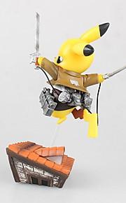 Pocket Monster PIKA PIKA PVC 8cm Anime Action Figurer Modell Leker Doll Toy