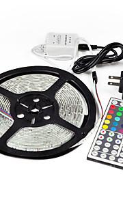5m 44key ir 5050 smd rgb fleksibel 300 LED lys stripe&fjern&5apower (DC12V)