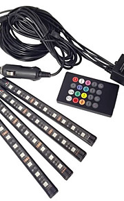veicolo lampada piede lampada decorativa interna a LED colorato musica leggera