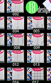 18pcs Nagel-Kunst-Aufkleber Folie Stripping Band Cartoon Design Make-up kosmetische Nail Art Design