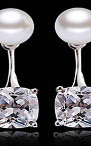 Boucle Zircon cubique Forme Ronde / Formé Carrée Boucles d'oreille goutte Bijoux Femme Mode / Adorable / PersonnalitéMariage / Soirée /