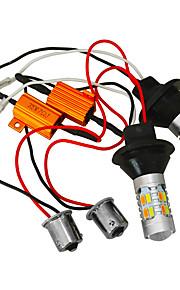 Jiawen 2 stuks 5730 20LED auto dual-color achtbaan geleid kit richtingaanwijzer DRL-lampen