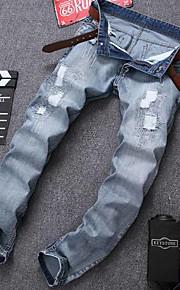 Nais- Housut-Yksinkertainen - Farkut / Chinos housut - Puuvilla / Polyesteri Elastinen