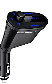 nieuwe 3.5mm lcd carkit auto MP3-speler draadloze FM-zender modulator usb lcd met usb sd mmc afstandsbediening