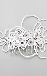 Women's Alloy Imitation Pearl Headpiece-Wedding Special Occasion Hair Combs 1 Piece