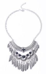 Modische Halsketten Obsidian Schmuck Hochzeit / Party / Alltag / Normal Modisch / Euramerican Aleación Silber 1 Stück Geschenk