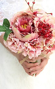 1 Bunch High Quality Handmade Artificial Peonies Hydrangea Silk Flowers European Style Wedding Bouquet Bride Holding Flowers Photography Props
