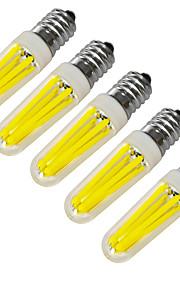 4W E14 Ampoules Bougies LED 4 COB 320-400 lm Blanc Chaud / Blanc Froid Décorative V 5 pièces