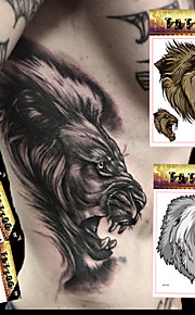 5 Tattoo Stickers Animal Series / Totem Series / Others Non Toxic / Pattern / Large Size / Lower Back / Waterproof / 3-DWomen / Men / Teen