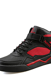 Men's Sneakers Spring / Fall Comfort PU Outdoor / Athletic / Casual Flat Heel Beading / Buckle / Lace-upBlue / Black and Red / Black and