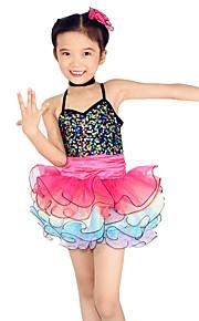 Dresses Performance Spandex / Tulle Paillettes / Sequins / Tiers 3 Pieces Ballet Sleeveless NaturalDress /