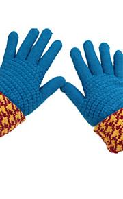 vinter mote Cashmere ull jevning ms. hansker (blå en pakke med to par)
