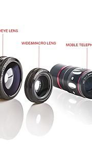 detaljer about4in1 fisk øje vidvinkel mikro 10x teleobjektiv kamera fr iphone 6 6s plus 5s