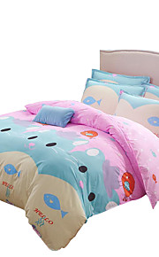 Mingjie  Wonderful Pink and Blue Cats Bedding Sets 4PCS for Twin Full Queen King Size from China Contian 1 Duvet Cover 1 Flatsheet 2 Pillowcases
