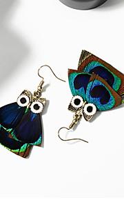 Boucle Sans pierre Boucles d'oreille goutte Bijoux Femme Halloween / Mariage / Soirée / Quotidien / Décontracté Alliage / Plume 1 paire
