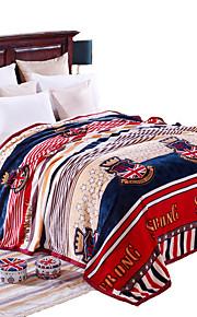Super Soft Multi-color,Printed Novelty 100% Polyester Blankets W200*L230cm