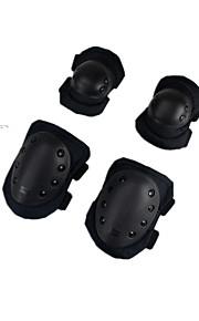 komplett sett med kne og albuebeskyttere voksen mannlig og kvinnelig ytre slitasje finér utendørs utstyr