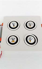 ZDM 28W COB 2600LM four embedded Square head can rotate 360 Degrees LED ceiling lamp Cold White / Warm White(AC85-265V)