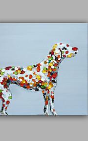 Håndmalte Abstrakt / Dyr olje~~POS=TRUNC malerier~~POS=HEADCOMP,Moderne / Klassisk Et Panel Lerret Hang malte oljemaleri For Hjem Dekor