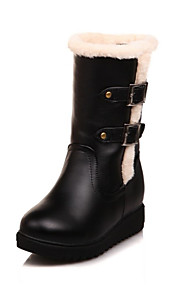 Women's Boots Comfort Leatherette Outdoor Black / Pink / Almond