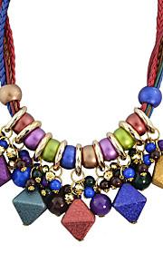 Modische Halsketten Ohne Stein Kragen Schmuck Hochzeit / Party / Alltag / Normal Modisch Aleación Rot / Blau / Grün 1 Stück Geschenk