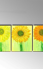 Hand Painted Abstract Oil Painting Modern Sunflowers Wall Art Home Decor with Stretched Framed