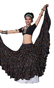 Belly Dance Bottoms Performance Cotton Draped / Pattern/Print 1 Piece Dropped Belly dance tribal Skirt