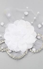 Femme Strass / Imitation de perle / Mousseline / Filet Casque-Mariage / Occasion spéciale Voile de cage à oiseaux 1 Pièce