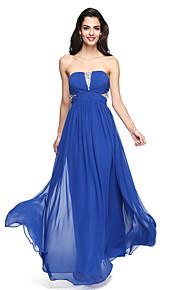 2017 Lanting chiffon gnistre bride® gulvlang& shine brudepige kjole - en-line stropløs med kryds og tværs